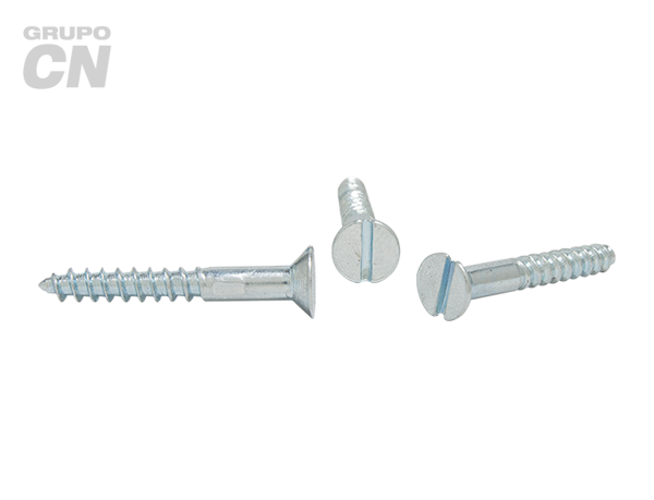 Tornillo Cabeza plana embutida ranurada cuerda rolada (para madera) #7 (3.8mm) 16 hilos
