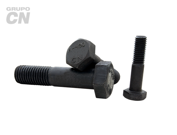 "Tornillo estructural cabeza hexagonal con vástago cuerda estándar UNC A-490 T-1 de 1 1/4"" (31.8mm) 8 hilos"
