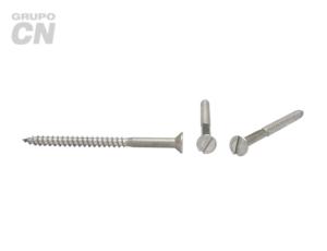 Tornillo Cabeza plana embutida ranurada cuerda rolada (para madera) #8 (4.1mm) 15 hilos