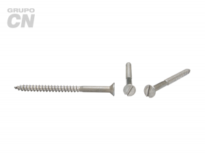 Tornillo Cabeza plana embutida ranurada cuerda rolada (para madera) #14 (6.3mm) 10 hilos