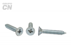 Pija cabeza plana embutida phillips cuerda tipo AB #4 (2.2mm) 24 hilos