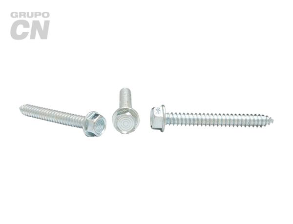 Pija cabeza hexagonal y hexagonal ranurada cuerda tipo AB #10 (4.7mm) 16 hilos