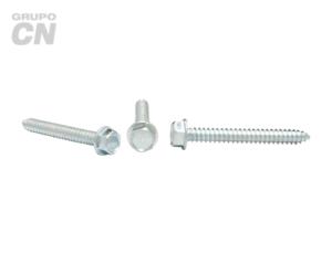 Pija cabeza hexagonal y hexagonal ranurada cuerda tipo AB #14 (6.3mm) 14 hilos