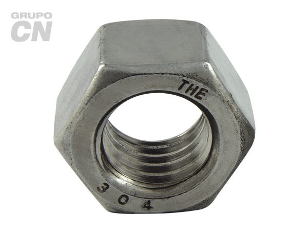 Tuerca hexagonal cuerda estándar UNC y fina UNF inoxidable 18-8 T 304 Estandar UNC