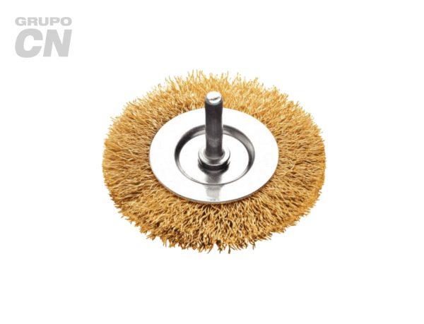 Cepillo de acero latonado con vástago