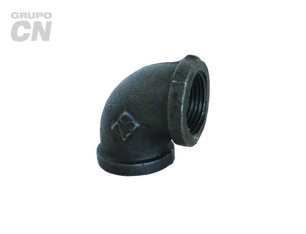 Conexiones roscadas-roscadas de hierro maleable cédula 40 Codo 90°