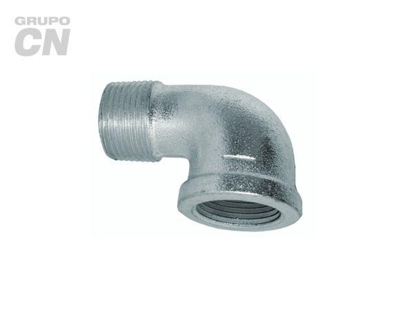 Conexiones roscadas-roscadas de hierro maleable cédula 40 Codo niple