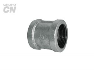 Conexiones roscadas-roscadas de hierro maleable cédula 40 Cople con costilla