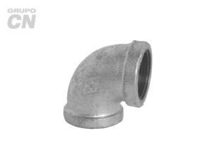 Conexiones roscadas-roscadas de hierro maleable cédula 80 Codo 90°