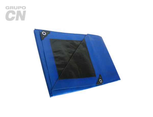Lona de polietileno reforzada exterior azul, interior negro