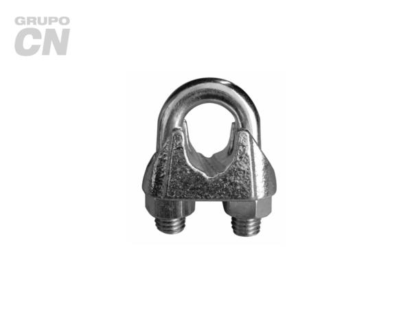 Nudo (perro) para cable de acero ranurado tipo europeo