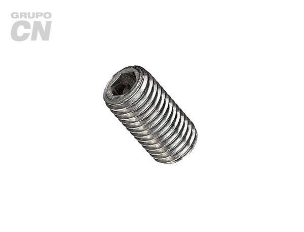 """Opresor con hexágono interior punta copa cuerda estándar UNC tipo allen inoxidable 18-8 (T 304) de 1/4"""" (6.3mm) 20 hilos"""