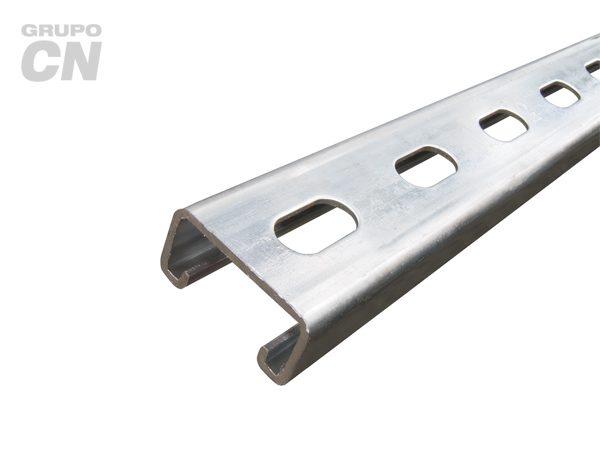 Riel unicanal 3 metros Perforado