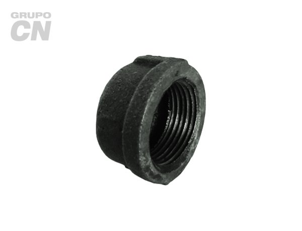 Conexiones roscadas-roscadas de hierro maleable cédula 40 Tapón capa