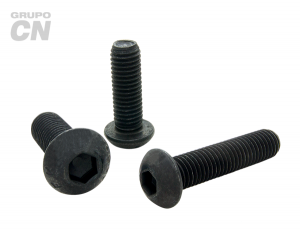 Tornillo cabeza botón con hexágono interior cuerda métrica tipo ALLEN M 6 paso 1.00