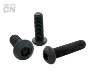 Tornillo cabeza botón con hexágono interior cuerda métrica tipo ALLEN M 12 paso 1.75