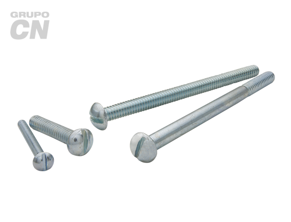 "Tornillo Estufa cabeza gota ranurada cuerda estándar UNC 1/4"" (6.3mm) 20 hilos"