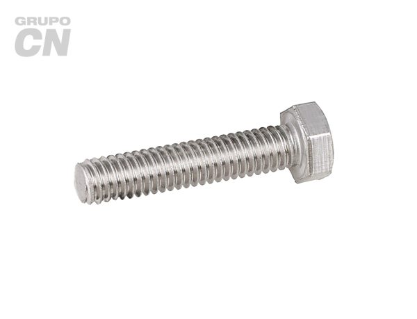 "Tornillo cabeza hexagonal cuerda corrida fina UNF inoxidable T 304 DIN 931 de 1/4"" (6.3mm) 28 hilos"