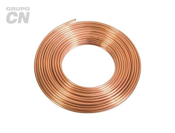 Tubo de cobre flexible para agua y gas