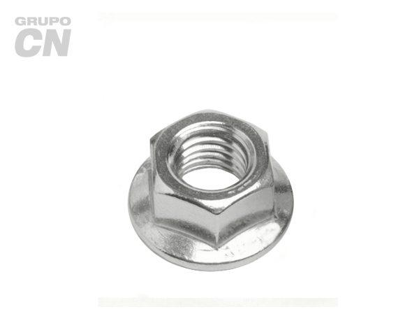 Tuerca hexagonal con arandela dentada flange cuerda estándar UNC