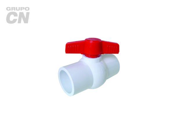 Válvulas de esfera o bola de PVC cementar