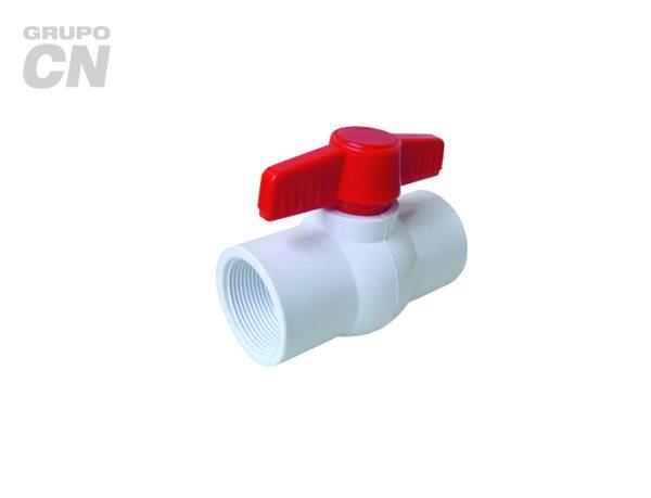 Válvulas de esfera o bola de PVC roscada