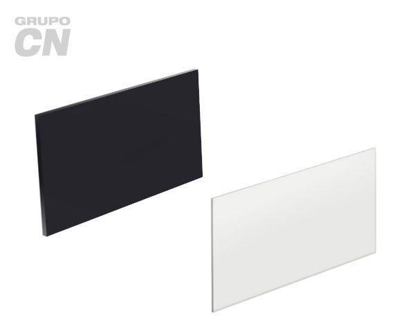 Vidrios rectangulares para caretas