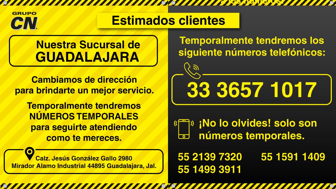 Teléfonos temporales Guadalajara